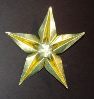 5-point star origami ornament by pandaraoke