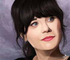 Zooey Deschanel by balluxnicocelli