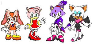 sonic girls by silvazelover2