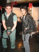 Chris and Wolverine by Chris--Redfield