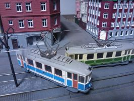 Model Trams Collision by ProjektGoteborg