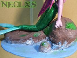Ariel Mermaid Papercraft 9 by Neolxs