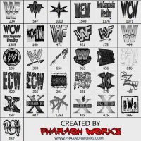 Pro Wrestling Logos by PW by pharaohworks