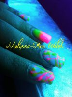 Glowing Uv gel nails by hugmemel