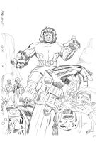 SAMSON #2 Cover in Pencil by rikvanniedek