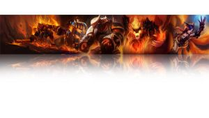 League of legends Wallpaper - Fire (white) by Desorienter