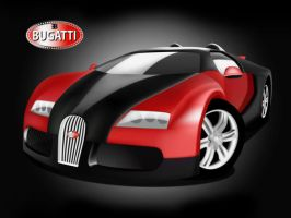 Red and Black Bugatti Veyron by nectar666