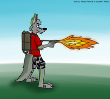 Playing with fire by LupusNic