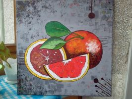 Red oranges. painting by Persyk