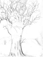 Tree or hand by ViviMaslow