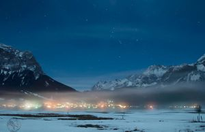 Zugspitze Mountains at Night 3 by Creative--Dragon