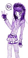emo girl by LouBerry