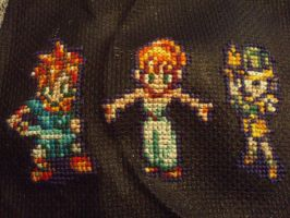 Chrono trigger: Chrono, Marle, Lucca by micadjems