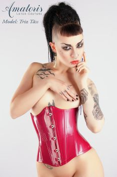 TrizTaess Latex-Corset Cor0002 red by AmatorisLatexCouture