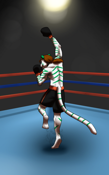 COMMISSION: Tiger Uppercut by Rehgan