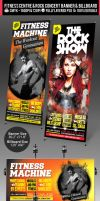 Rock Concert and Fitness Club Billboard Banner PSD by ShermanJackson