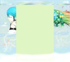 YouTube Layout 3.0 - Miku. by FlyuuChan