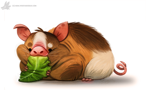 Daily Painting #937. Guinea Pig by Cryptid-Creations