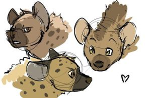 Hyenas by Sidgi