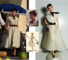 Audrey Hepburn OOAK - Galaxy Chocolate by lulemee