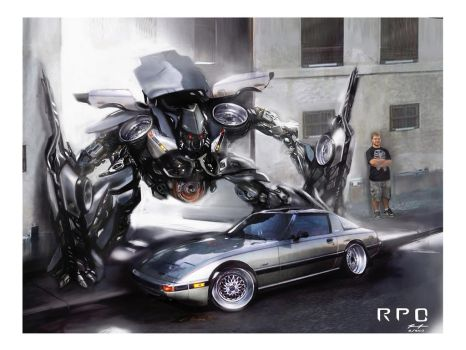 FB Rx7 Print with Border. by RPOdesign