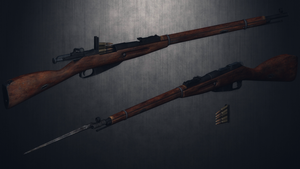 [MMD] Nonna Katyusha's Mosin Nagant 91/30 for DL by AbyssLeo