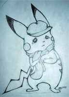 sad pikachu is sad by Faustina13