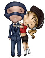 Chibis::Femscout + Blu Spy by Necrophagy