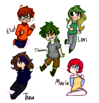Some Oc's :'3 by d-drowned-matt