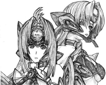 KOS-MOS x T-elos by PeterPrime