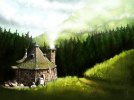 Hagrid's hut by soonumb