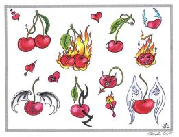 Cherries Flash by TattooSavage