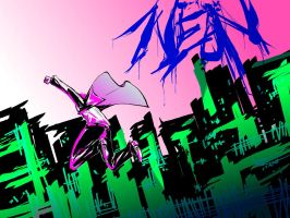 my city burns low neon by lushan