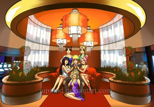 Naruto: Casino Boss (Harem) by JuPMod