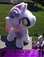 Sweetie belle Plushie by TellabArt