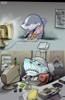 Shark, Then and Now by BluFioneX