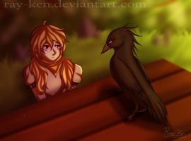 Her Guardian Raven (+Speedpaint) by Ray-Ken