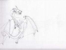 Quick Dragon Sketch by Weasel102