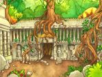 jungle book - temple backdrop by mementomoryo