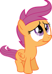 puppy-eyed Scootaloo by BaumkuchenPony