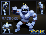 Machoke Papercraft by Skeleman