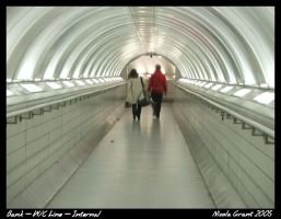 Bank Station Tunnel - interior by spookiedoofus