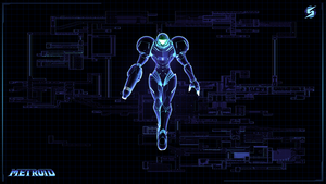 Metroid Wallpaper by FrancoFerrari