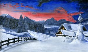 The Cottage in the Snow by VedranR