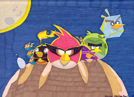 Angry Birds Space Drawing - Finished by NoobSaibot791