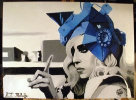 Lady Gaga Telephone Painting by kpotatodorkk