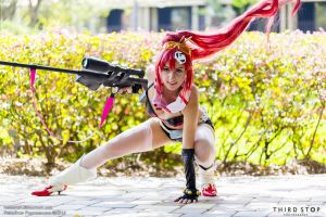 Yoko in action by AmyFantasea
