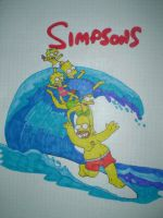 The Simpsons Family by HeinousFlame
