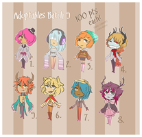 Adoptables . Batch Five { CLOSED } by CrypticInk