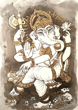 Dancing Lord Ganesha  by mandiliz
